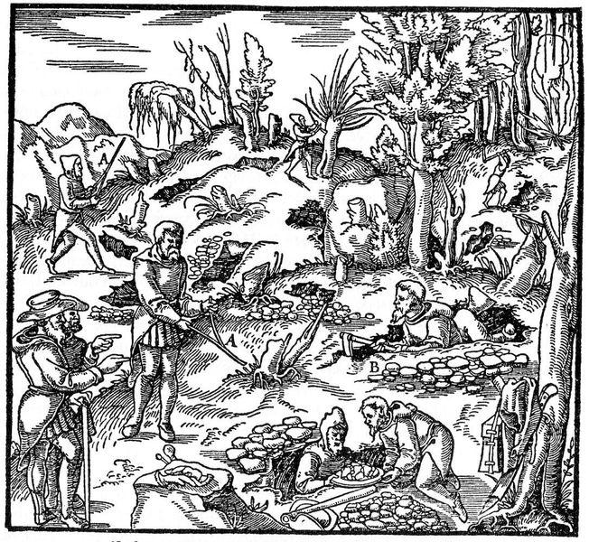 Средневековый поиск месторождений. Георгий Агрикола - Рудоускатель