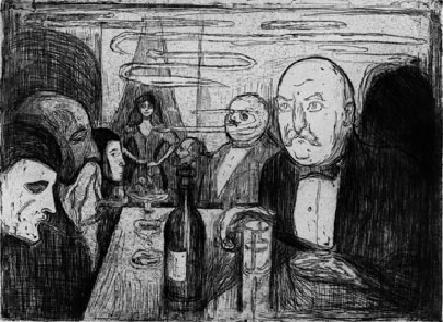 Богема образца 1895 года глазами Эдварда Мунка...