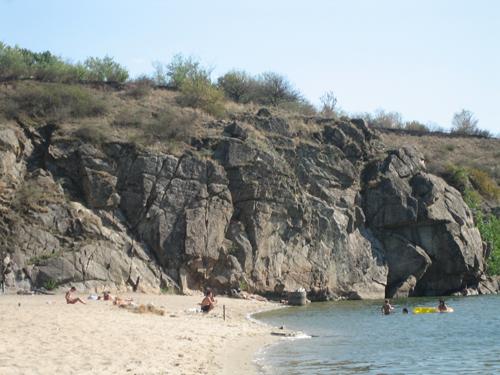 Пляж на Хортице