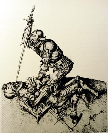 Бой средневековых рыцарей