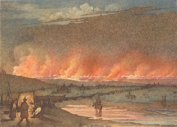 Т.Шевченко. Пожар в степи. 1848.